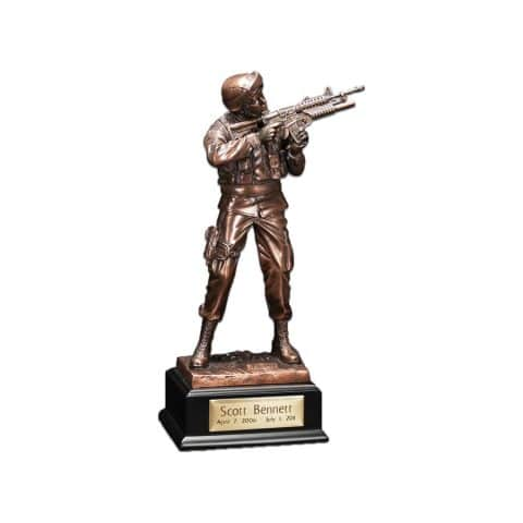 Michigan Cremation Army Figurine
