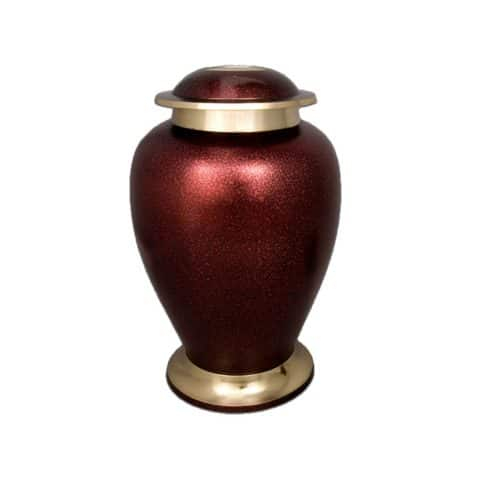 Michigan Cremation Urn Cardinal Red and Gold