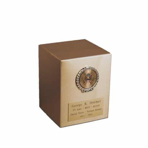 Michigan Cremation Urns Sheet Bronze Army