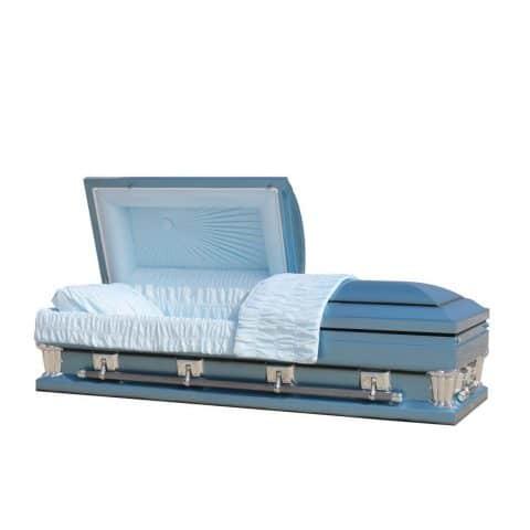 Imperial Blue funeral casket