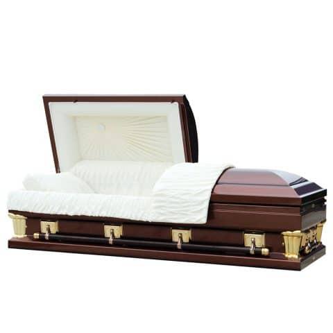 Imperial bronze funeral casket