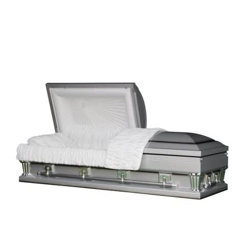 Imperial Silver funeral casket