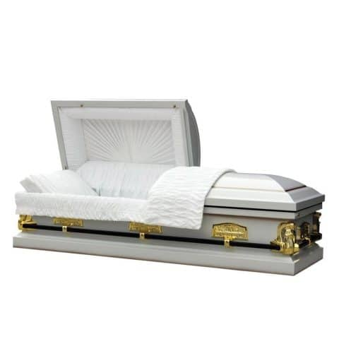 Reverance Ivory casket from Michigan Cremation